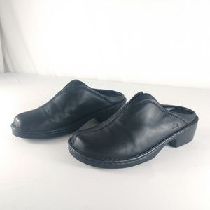 Spring Step Lexi Black Leather Clogs / Mules